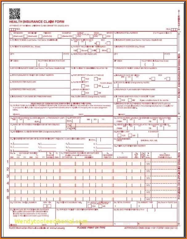 Hcfa 1500 Form Instructions