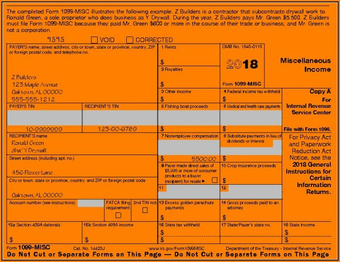 irs-1099-form-2018-700x539  Form Example on look like, completed examples, sent health care, air force, what is,