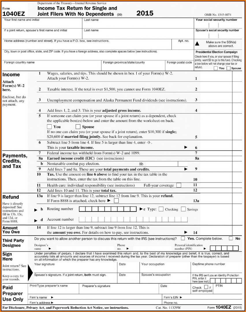 Irs Forms 1040ez 2016 Form Resume Examples Jn49mdb2zz