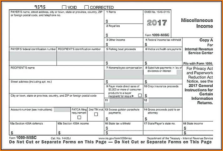 Printable 1099 Form 2017