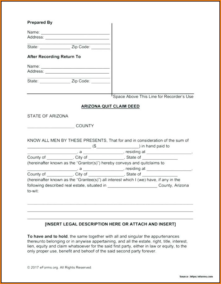 Quick Claim Deed Form California