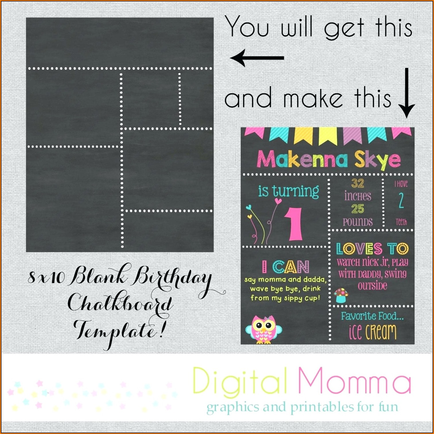 1st birthday chalkboard sign template free template 1 resume