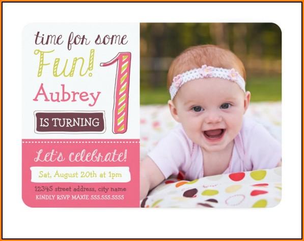 1st Birthday Invitation Template Psd