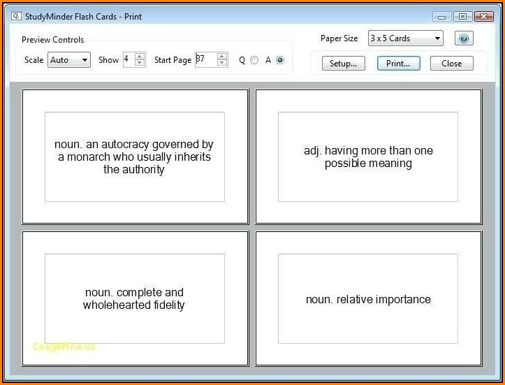 3x5 Index Card Template Google Docs