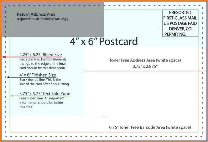 4x6 Postcard Mailing Template