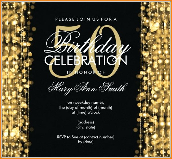 50th Birthday Invitation Templates Word