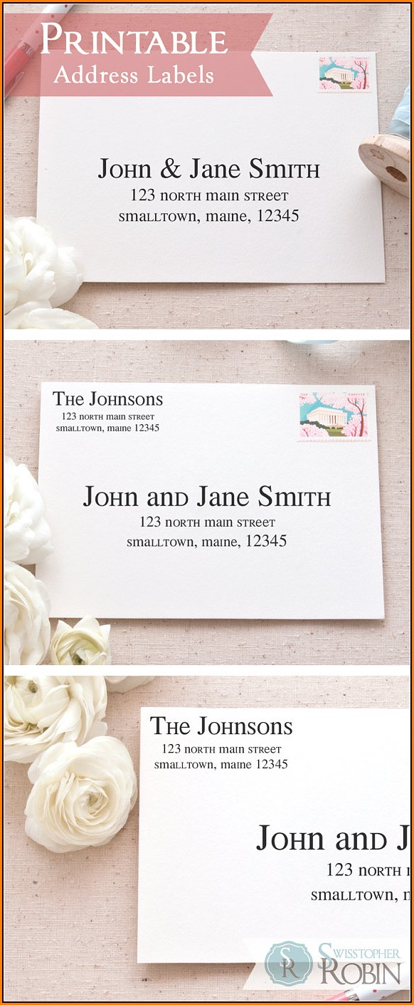 Address Label Templates For Wedding Invitations