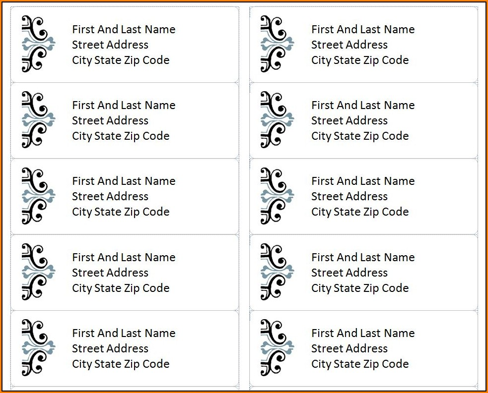 Address Label Templates