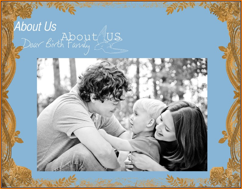 Adoption Profile Book Template