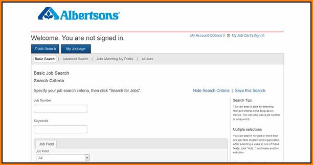Albertsons Online Job Application