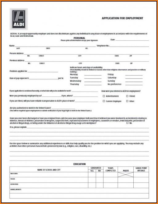 Aldi Job Application Answers