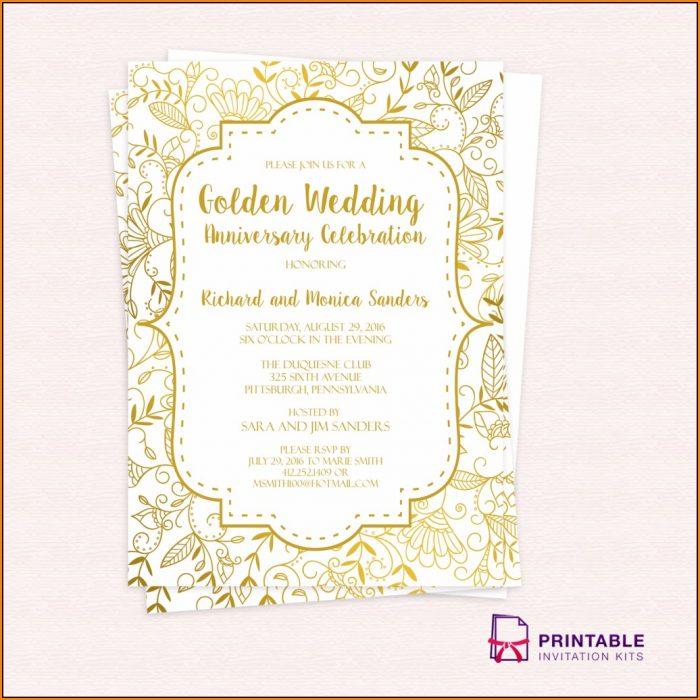 Anniversary Invitation Template Free