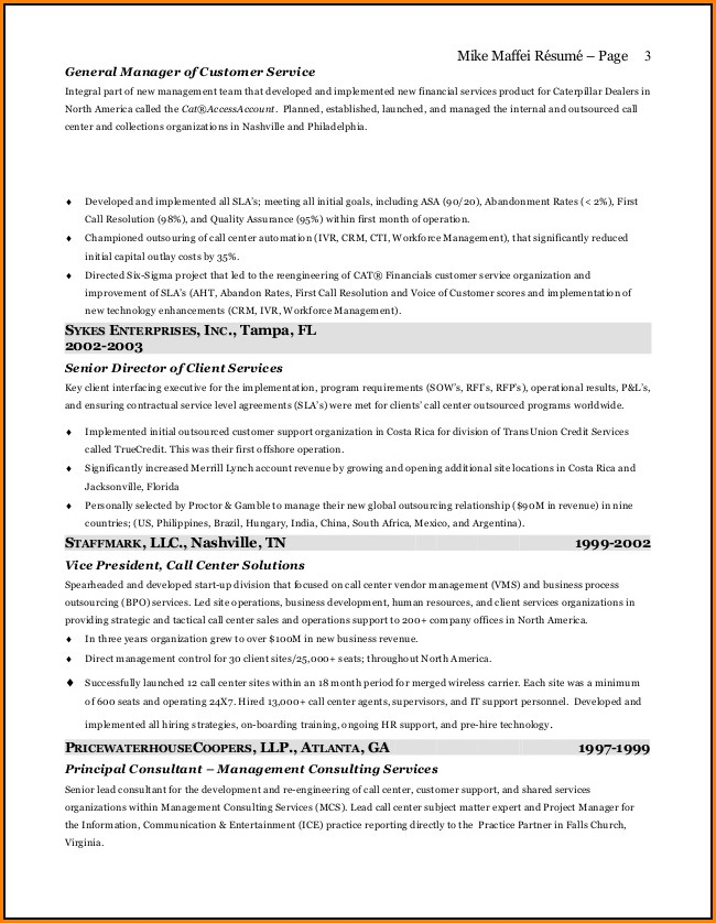 Atlanta Resume Writer