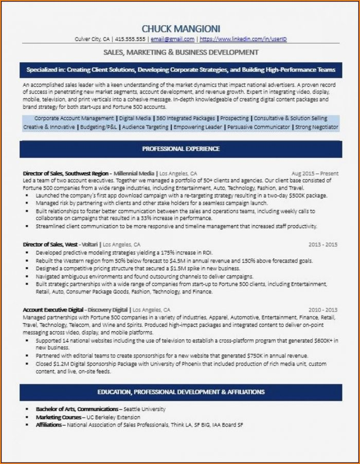 Ats Ready Resume Templates