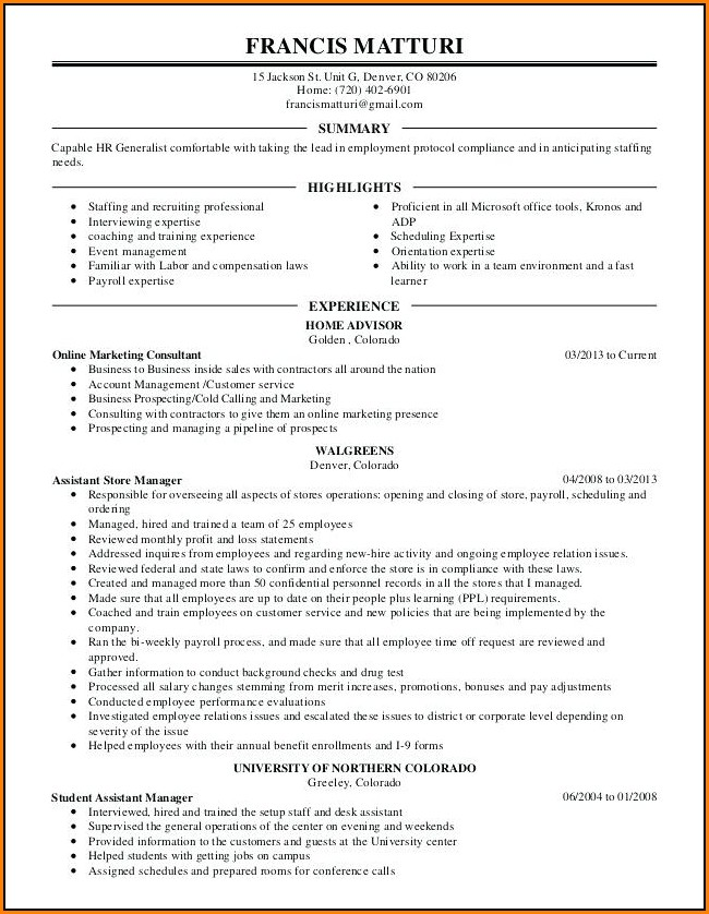 free resume layout 2018