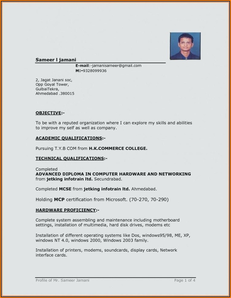 Attractive Resume Templates Free Download Microsoft Word