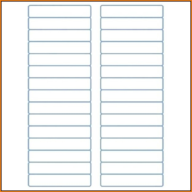 Avery File Folder Labels Template 5366