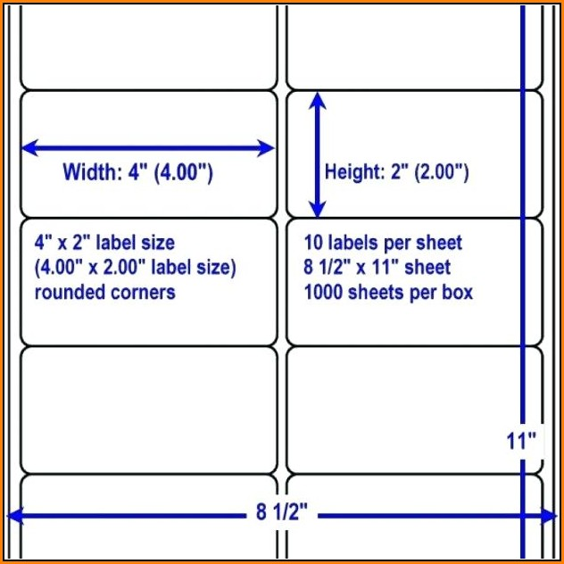 Avery Mailing Labels Template 10 Per Sheet