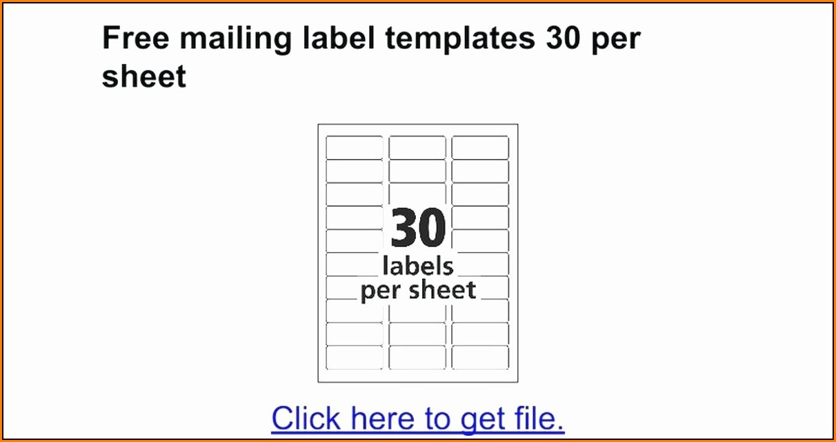 Avery Mailing Labels Template 5167