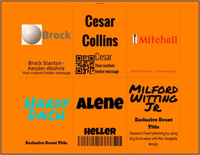 Avery Name Badge Template 74541