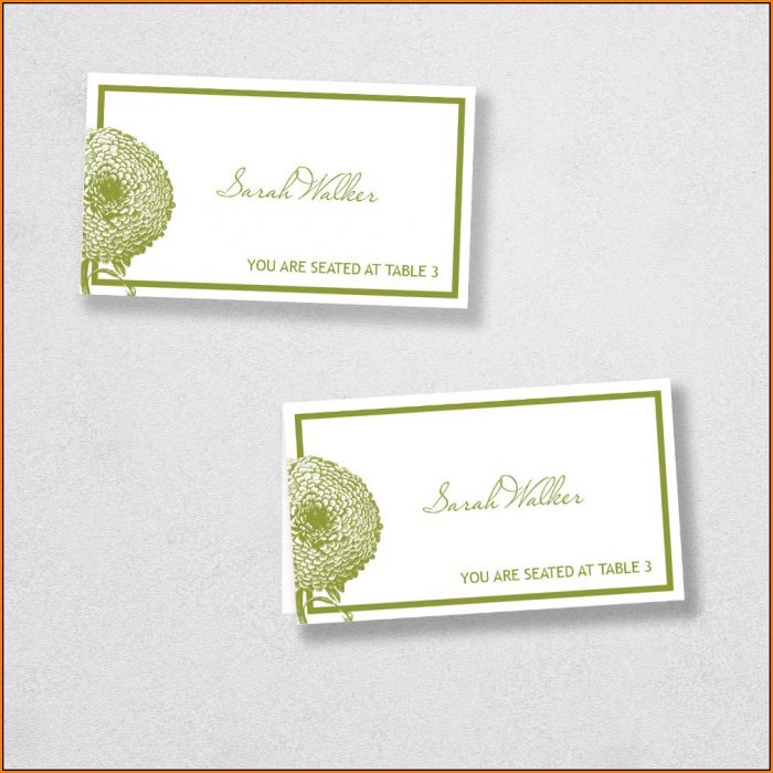 Avery Place Card Template 4 Per Sheet