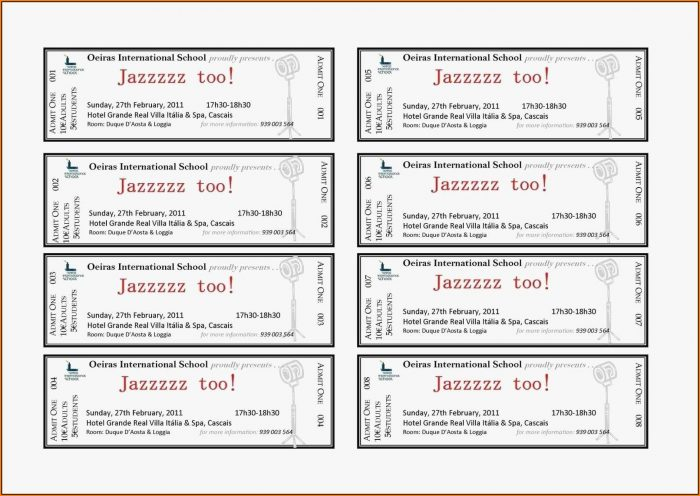 Avery Raffle Ticket Template 10 Per Sheet