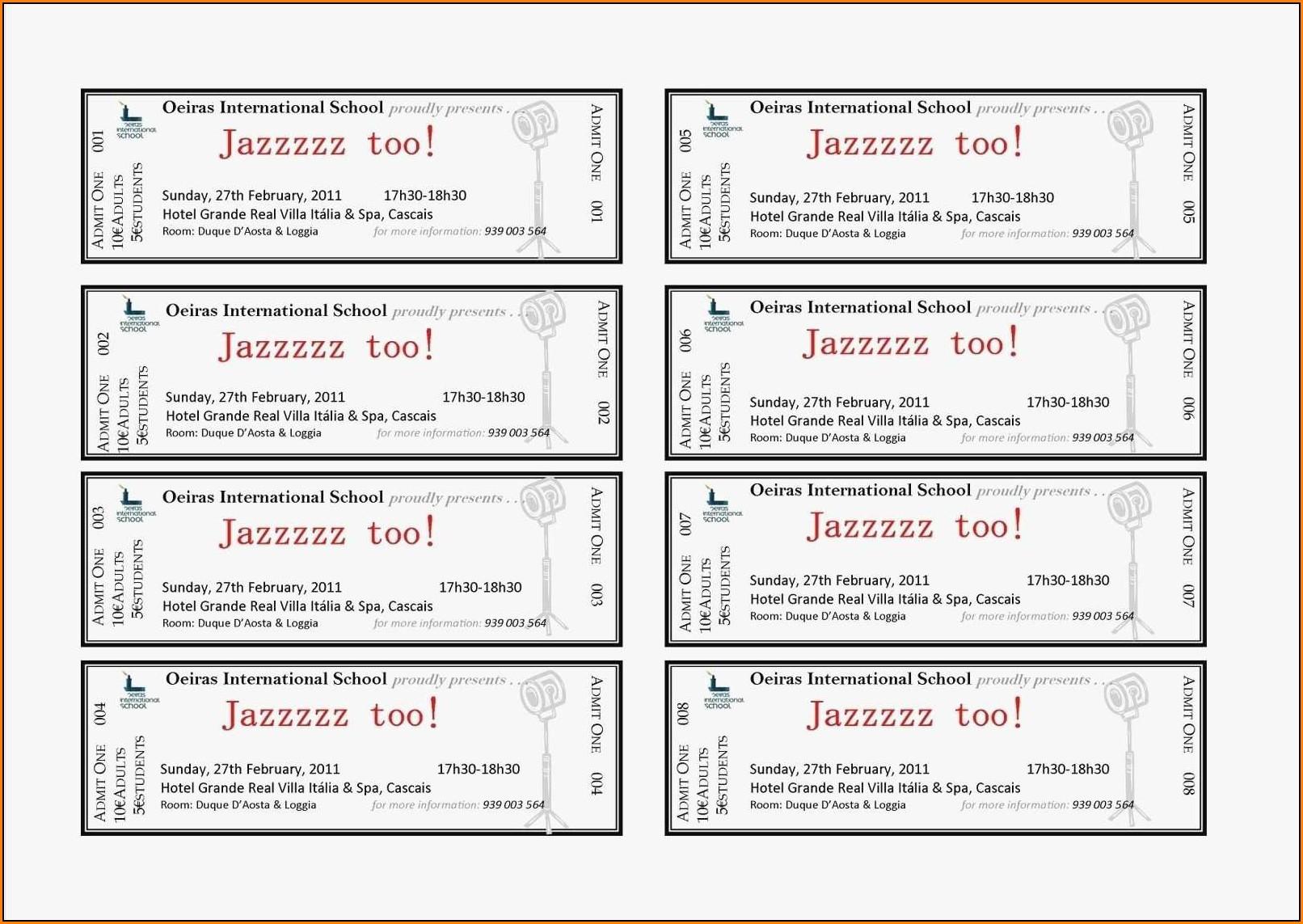 Avery Raffle Ticket Template 10 Per Sheet