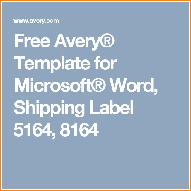 Avery Shipping Label Template 8164