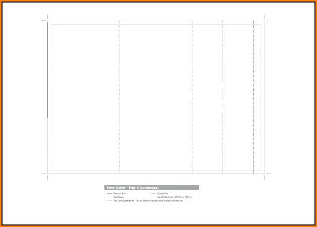 Avery Table Tent Template 5309
