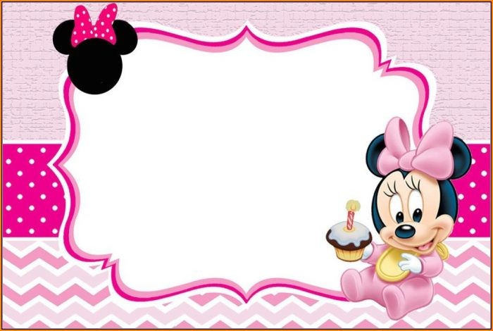 Baby Minnie Mouse Invitation Template