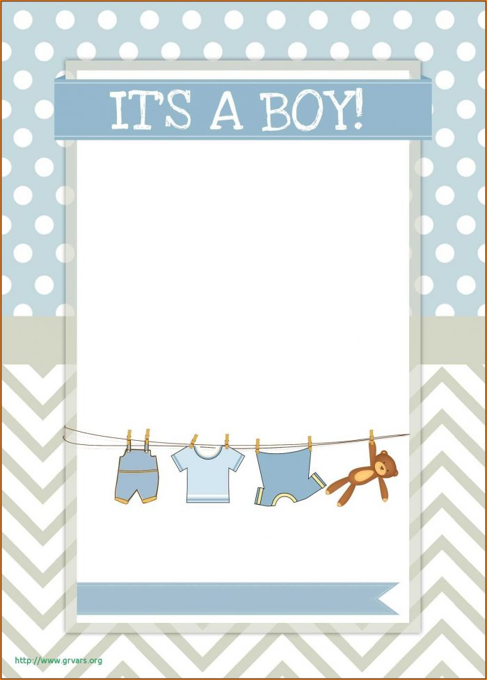 Baby Shower Invite Template Boy