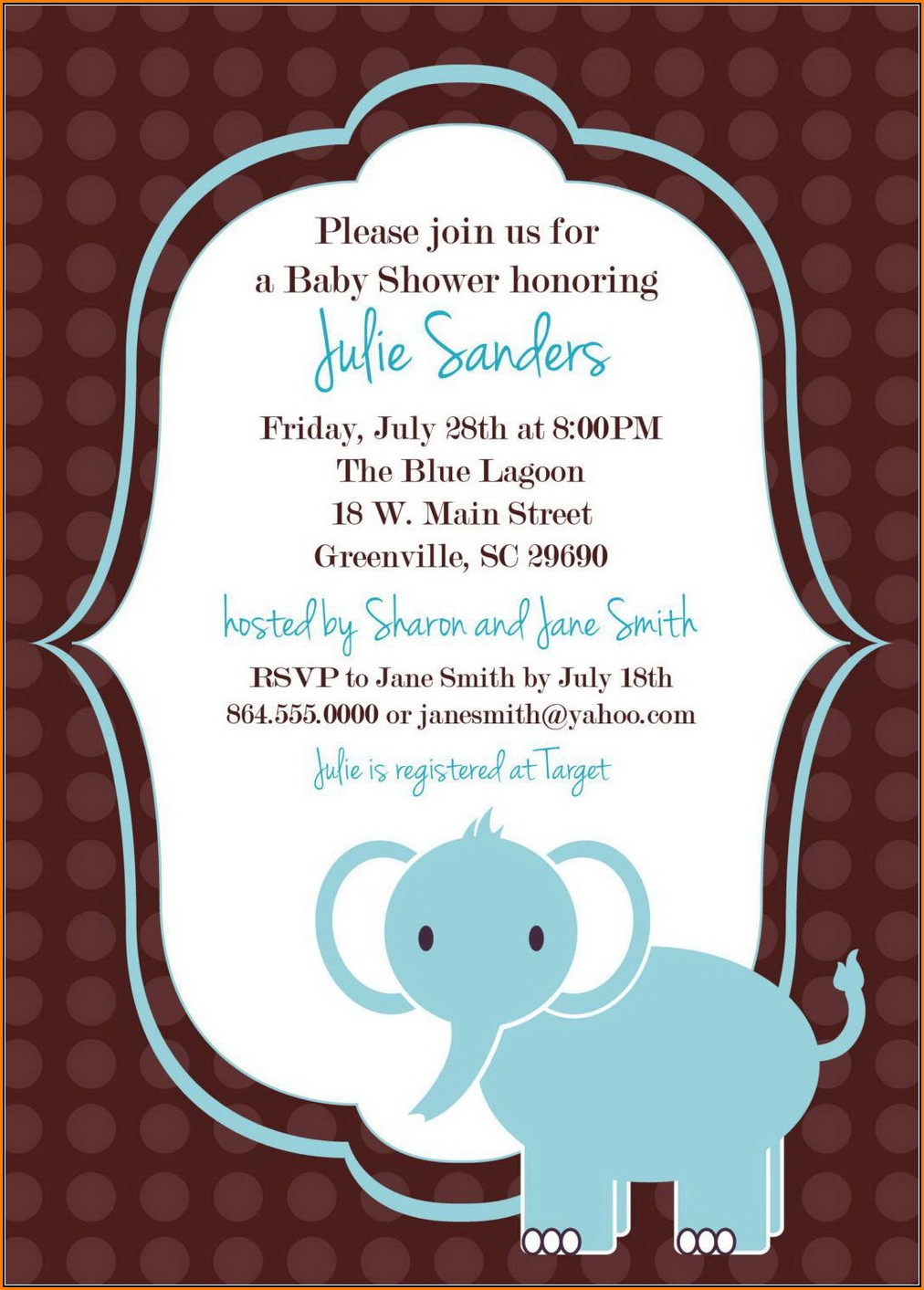 Baby Shower Invite Template Indesign