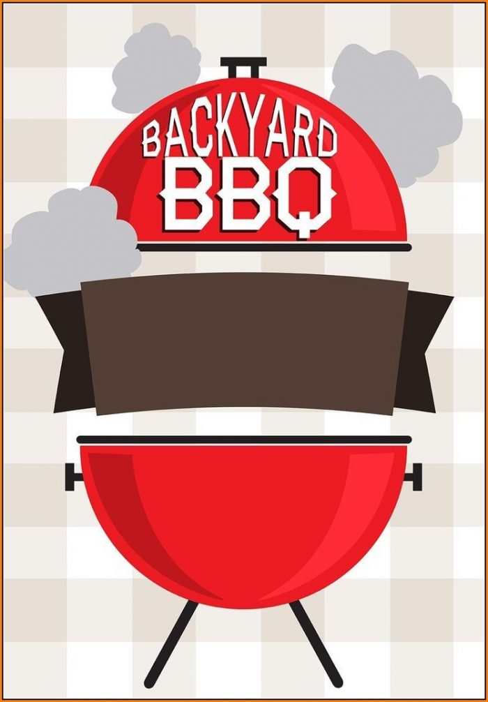Backyard Bbq Invitation Template