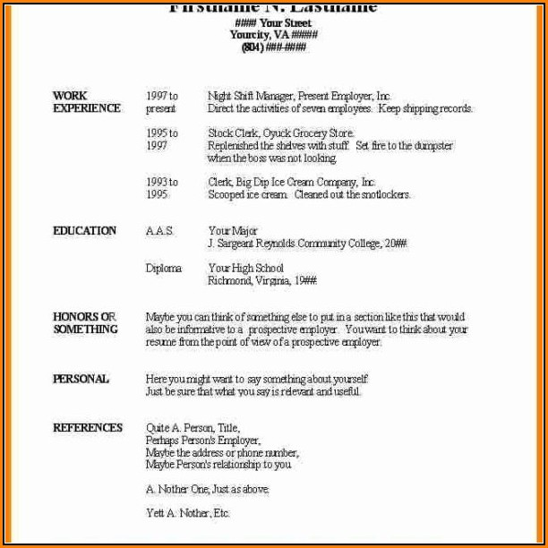Basic Resume Template Microsoft Word