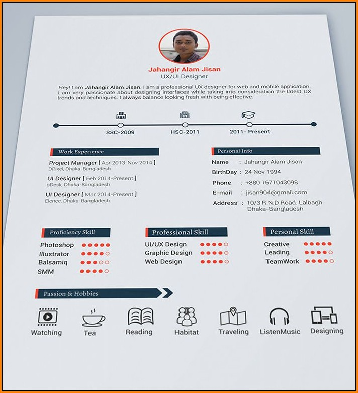 Beautiful Resume Templates Free Download