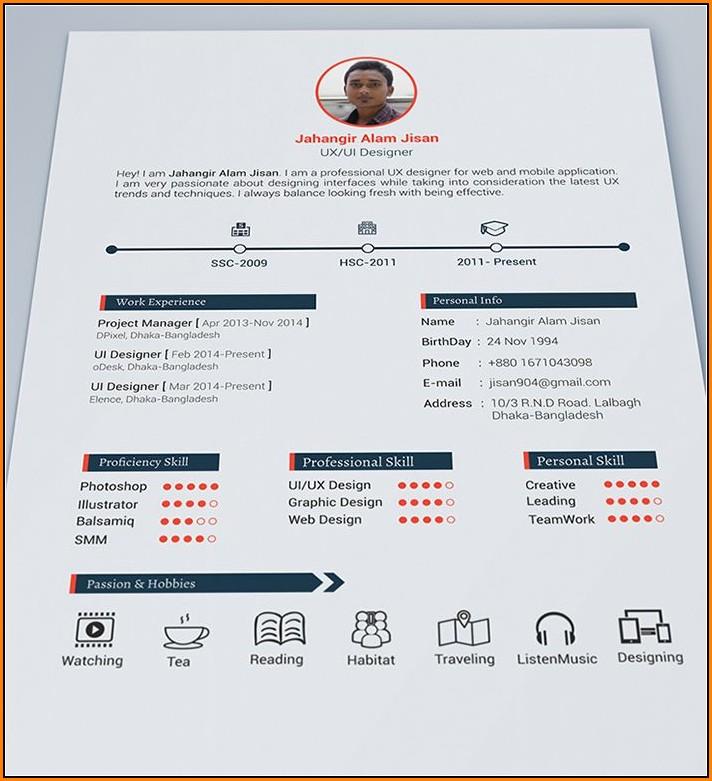 Beautiful Resume Templates Free Download
