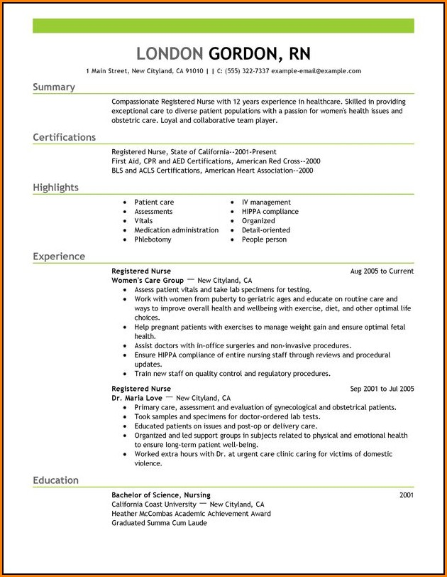 Best Nursing Resume Templates