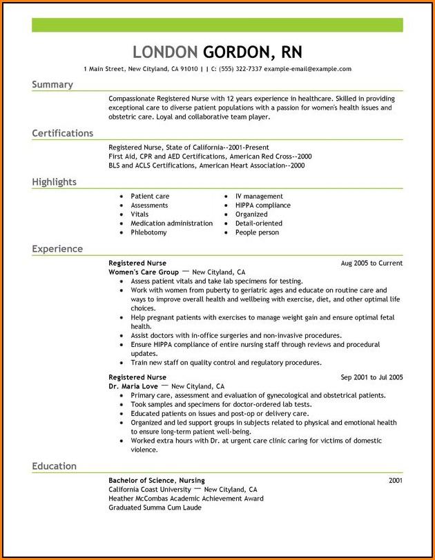 Best Nursing Resume Templates