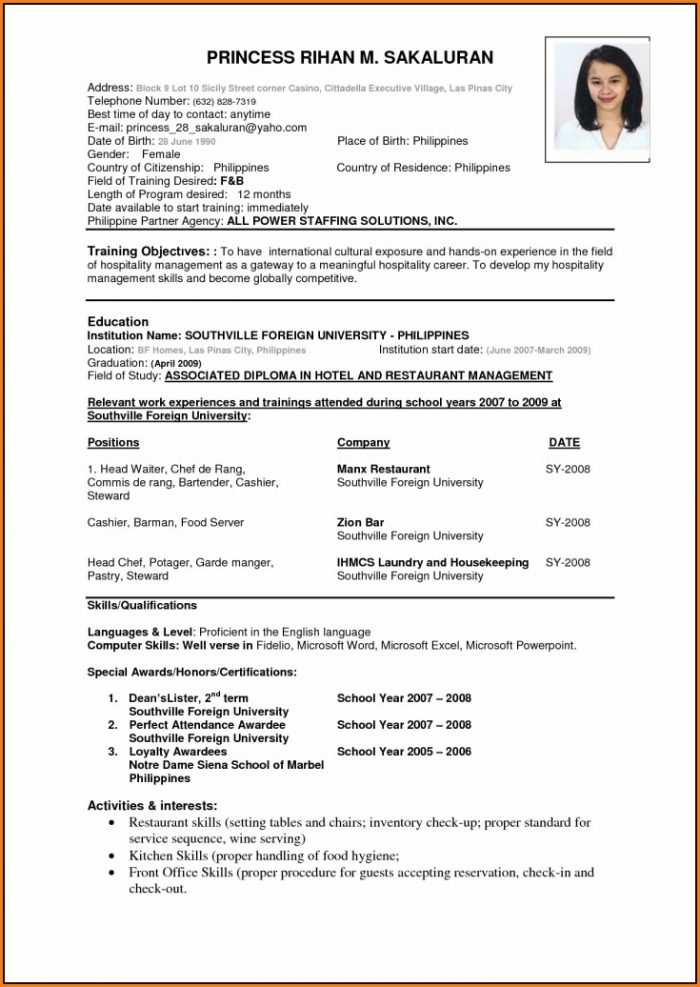 Best Resume Format Download