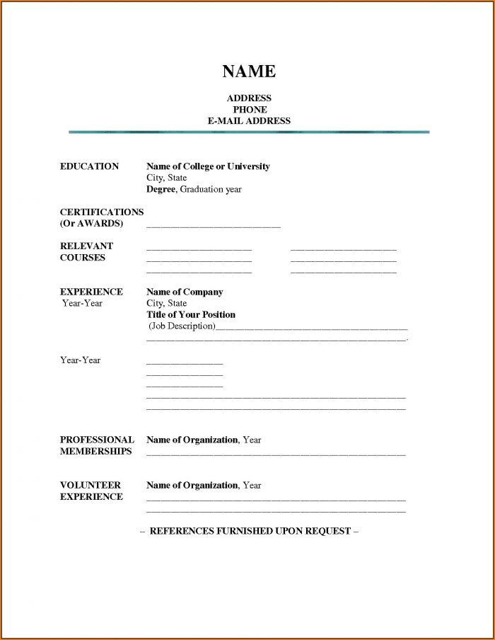 Resume Format Free Download In Ms Word 2010 Resume Resume