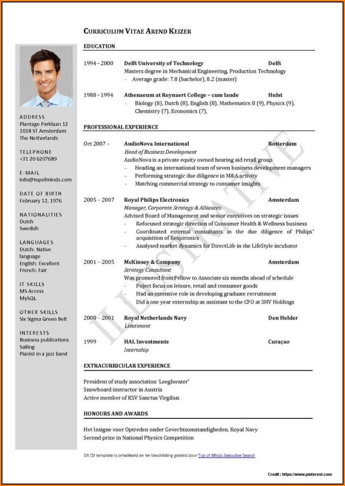 Bsc Nursing Resume Format Pdf