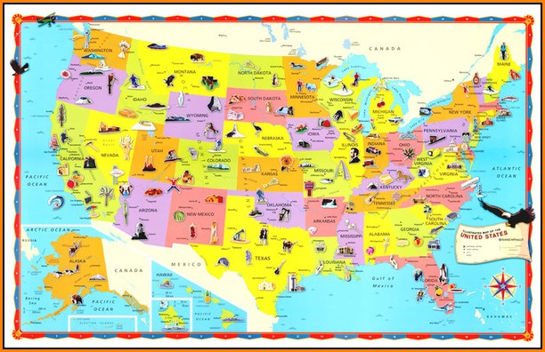 Children's United States Wall Map