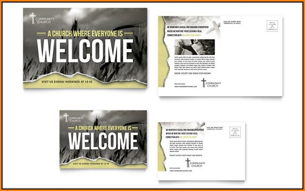Church Postcard Templates Free