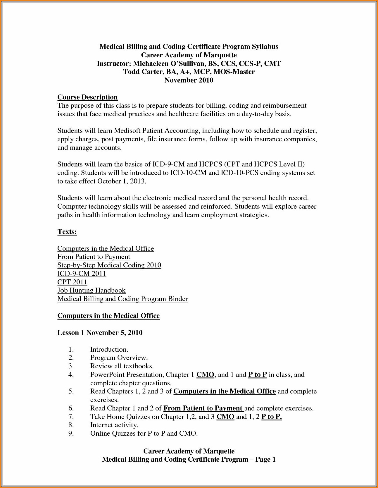Cover Letter For Medical Billing And Coding