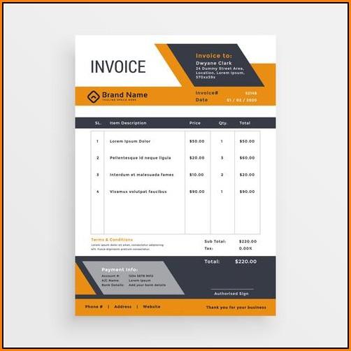 Creative Invoice Template Free