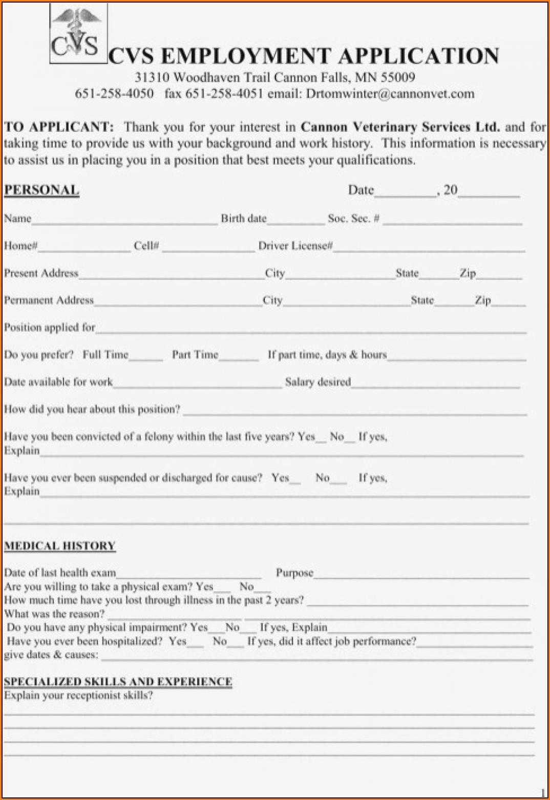 Cvs Application Job