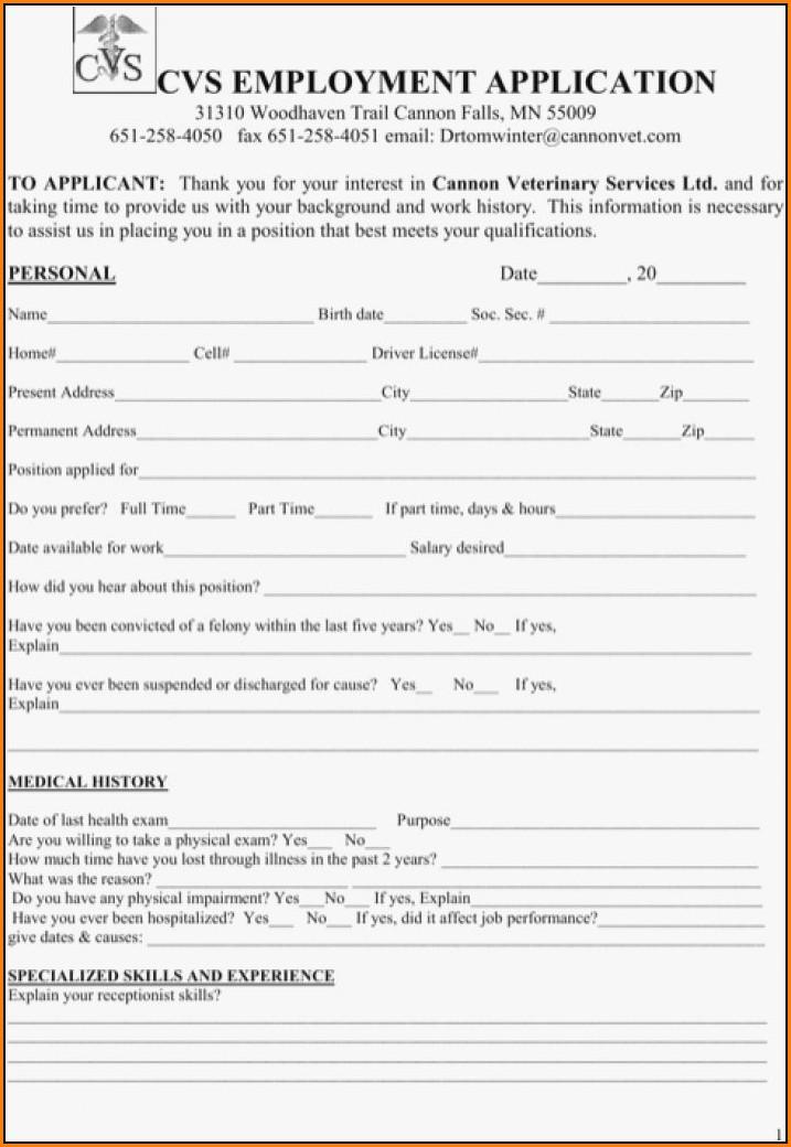 Cvs Careers Job Application
