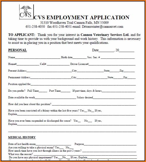 Cvs Job Application Cashier