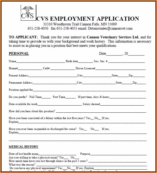 Cvs Job Application Status