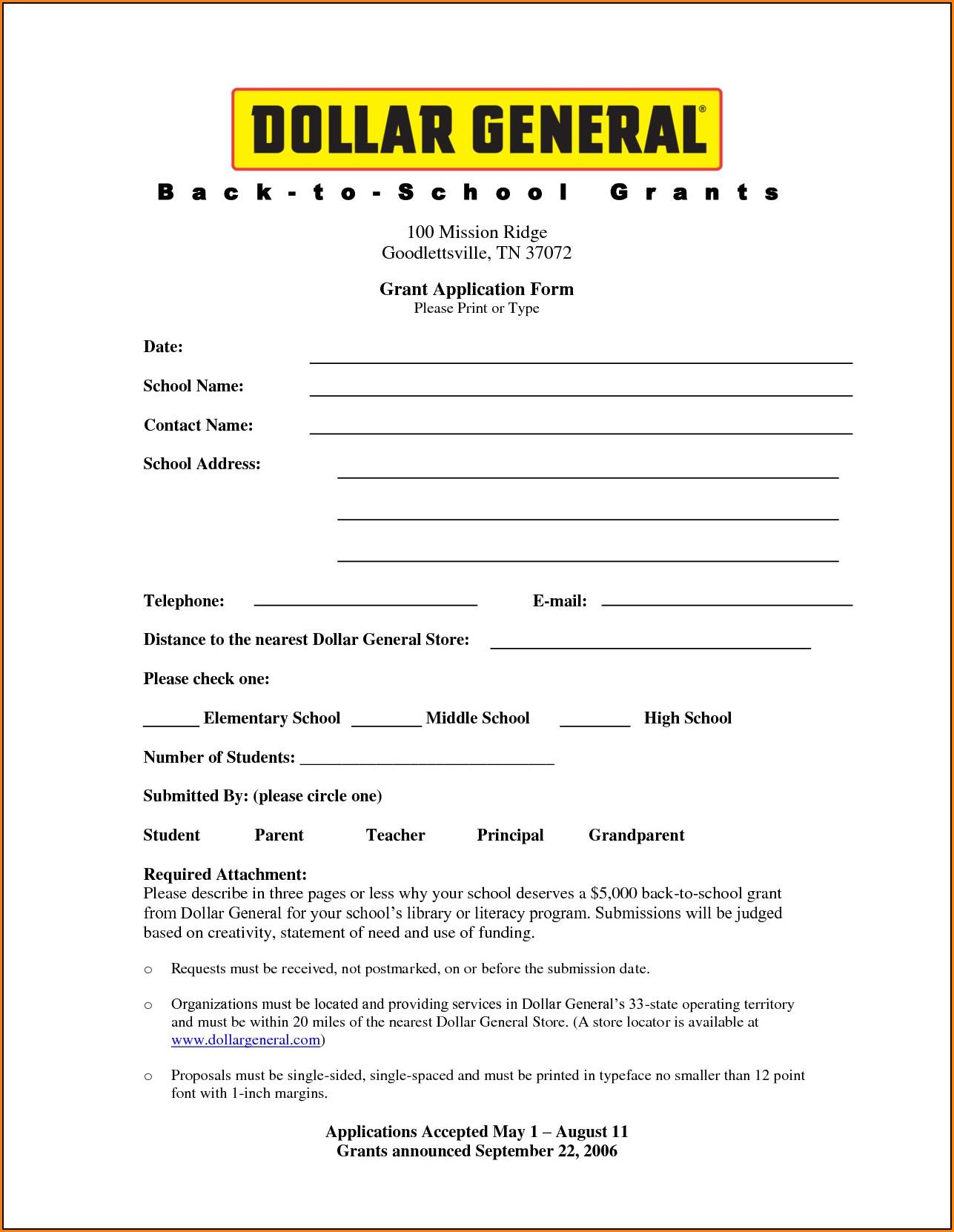 Dollar Store Job Application Online